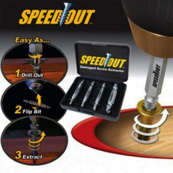 30076 - Комплект насадок: поворотная насадка Half Time (твистер) + насадка для суперключа Distordo + набор SpeedOut