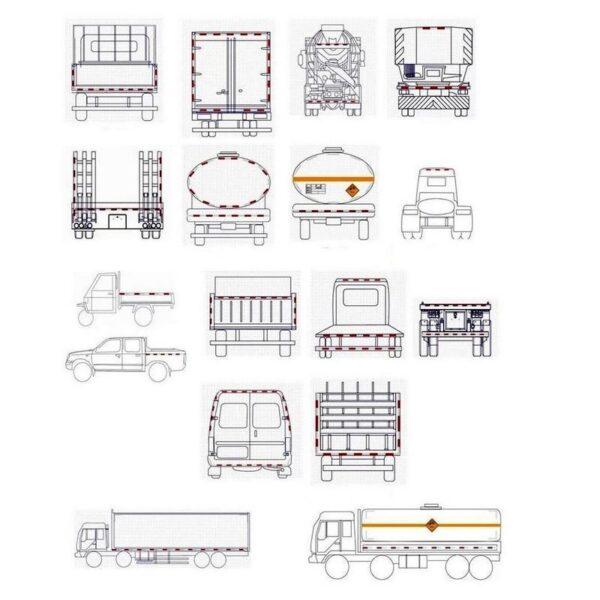 30111 - Светоотражающие наклейки на кузов автомобиля