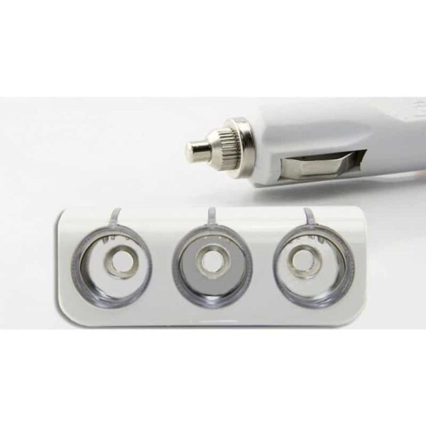 30256 - Многофункциональное автомобильное зарядное устройство А-4521 - 3 гнезда прикуривателя, 2 выхода USB, индикатор, 120 Вт