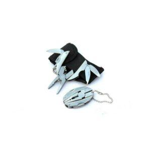Многофункциональные плоскогубцы-брелок: нож, напильник, крестовая и плоская отвертки