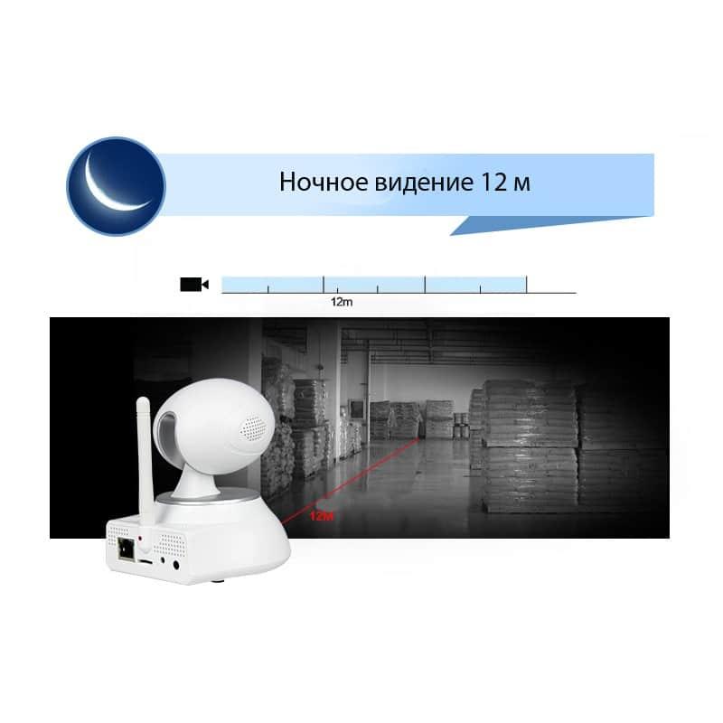 Многофункциональная IP-камера ESCAM Super Egg QF550: 720Р, датчик движения, ночное видение, SD 64 Гб, интеркомсвязь, сирена 207185