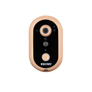 Умный дверной Wi-Fi звонок-IP-камера ESCAM Doorbell QF600: 720Р, ночное видение, датчик движения, тревога, двустороннее аудио