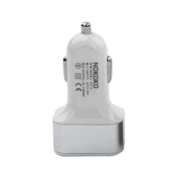 30982 - Автомобильное зарядное устройство Nokoko А-4825 - 3 х USB, 2.1 A, 1 А, 1 А