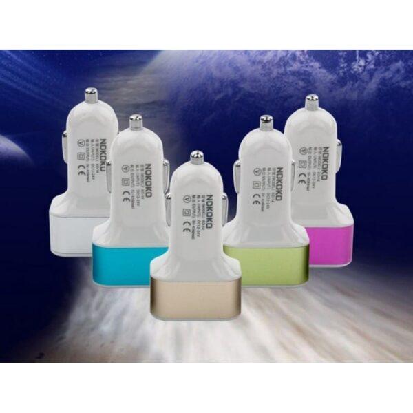 30983 - Автомобильное зарядное устройство Nokoko А-4825 - 3 х USB, 2.1 A, 1 А, 1 А