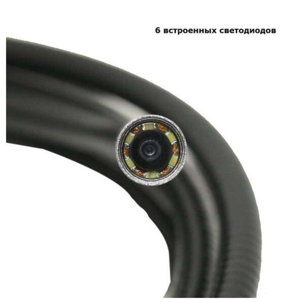 31071 - Профессиональный эндоскоп TESLONG WF200-1 - IP67, Wi-Fi, 8.5 мм диаметр, 1 м длина, 2 Мп CMOS, 1280х720, 6 светодиодов