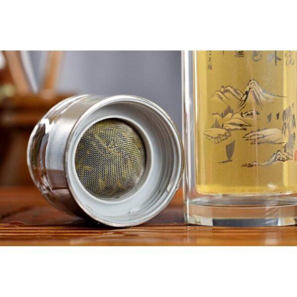 31441 - Дорожный стеклянный заварник для чая Fu Guang Fu-281