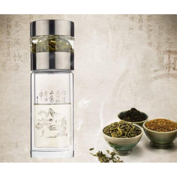 31448 - Дорожный стеклянный заварник для чая Fu Guang Fu-281