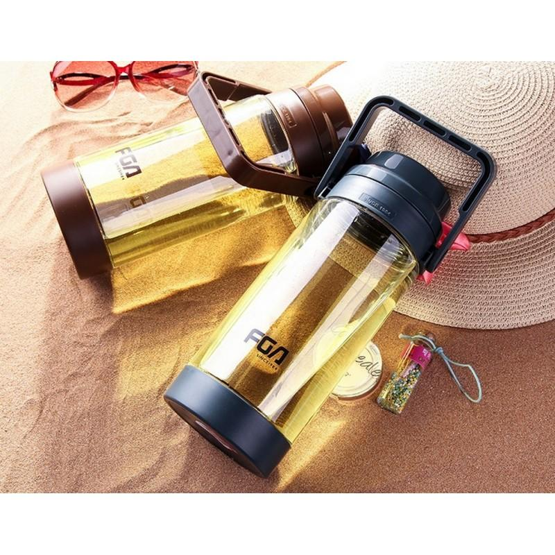 31472 - Большая пластиковая бутылка для воды Fu Guang Big на 1500 мл с ручкой