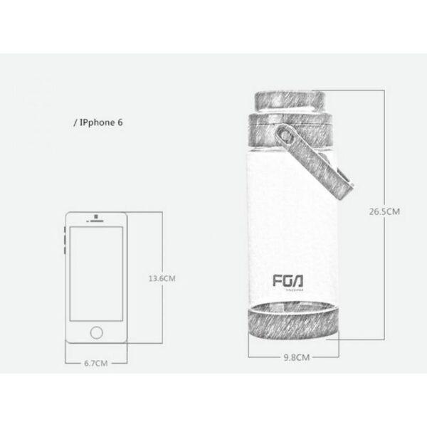 31473 - Большая пластиковая бутылка для воды Fu Guang Big на 1500 мл с ручкой