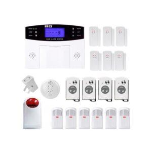 Комплексная система безопасности 20 в 1 YA-500-GSM-33 – ИК и дверные датчики, сирена, датчик дыма, сигнал тревоги и оповещения