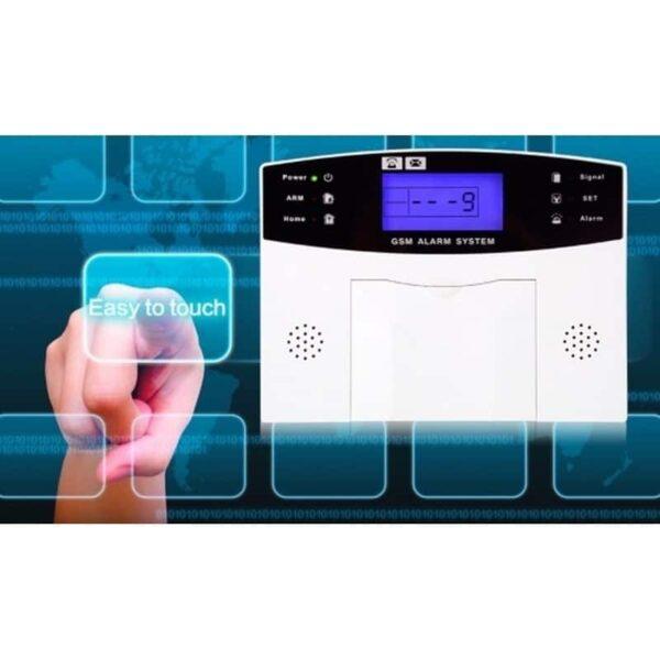 31494 - Комплексная система безопасности 20 в 1 YA-500-GSM-33 - ИК и дверные датчики, сирена, датчик дыма, сигнал тревоги и оповещения