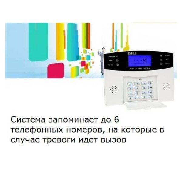 31495 - Комплексная система безопасности 20 в 1 YA-500-GSM-33 - ИК и дверные датчики, сирена, датчик дыма, сигнал тревоги и оповещения