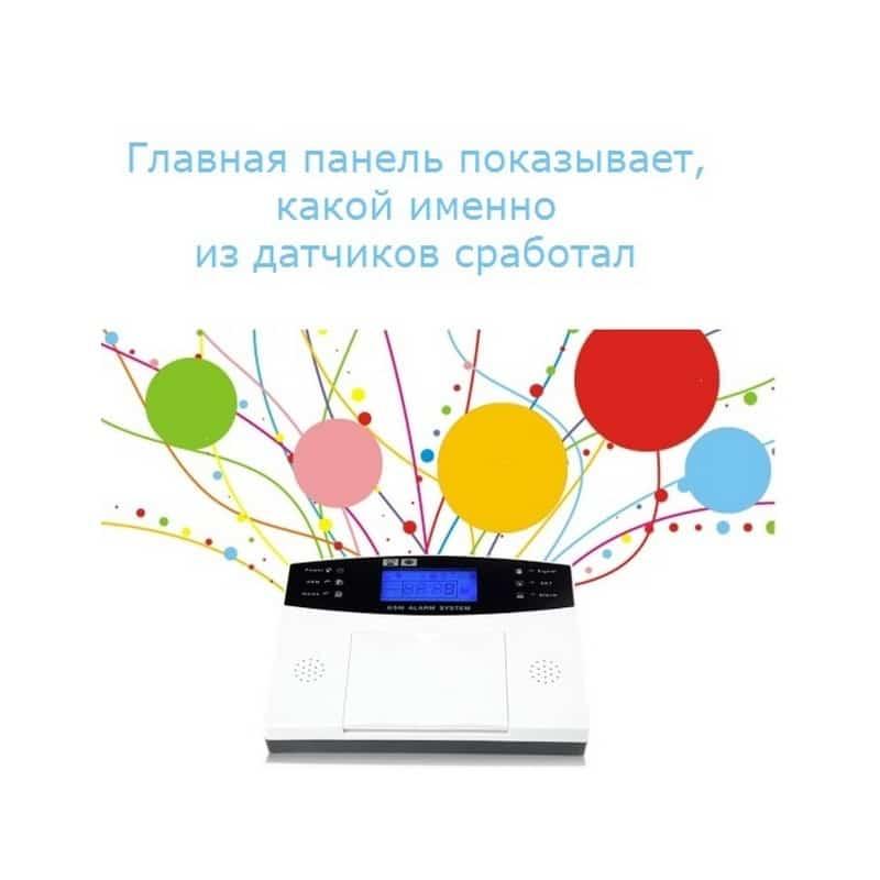 Комплексная система безопасности 20 в 1 YA-500-GSM-33 – ИК и дверные датчики, сирена, датчик дыма, сигнал тревоги и оповещения 208066