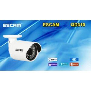 Водонепроницаемая IP-камера ESCAM Goblet QD310: 720Р, детектор движения, ночное видение, ONVIF, 10 пользователей онлайн, RJ-45