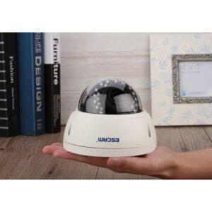 Профессиональная 4Мп IP-камера ESCAM Dome QD420: 2592 х 1520, детектор движения, ночное видение 15 м, ONVIF, IP66, RJ-45
