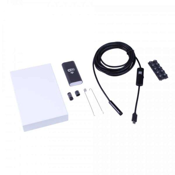 31622 - Wi-Fi видеоэндоскоп A830: 2 м кабель, IP67, 720p, камера 8 мм, 6 x LED, угол обзора 70°, 600 мАч, поддержка Android/iOS/Windows
