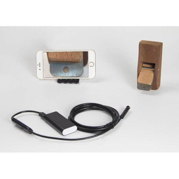 31627 - Wi-Fi видеоэндоскоп A830: 2 м кабель, IP67, 720p, камера 8 мм, 6 x LED, угол обзора 70°, 600 мАч, поддержка Android/iOS/Windows
