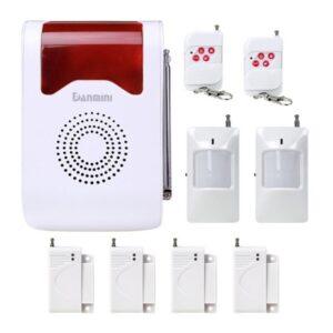 Домашняя система безопасности YA-302B-1 9 в 1 – сирена 110 дБ, кнопка SOS, 2 пульта ДУ, 2 PIR датчика, 4 дверных датчика