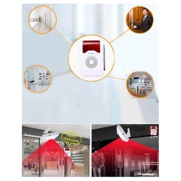 31673 - Домашняя система безопасности YA-302B-1 9 в 1 - сирена 110 дБ, кнопка SOS, 2 пульта ДУ, 2 PIR датчика, 4 дверных датчика