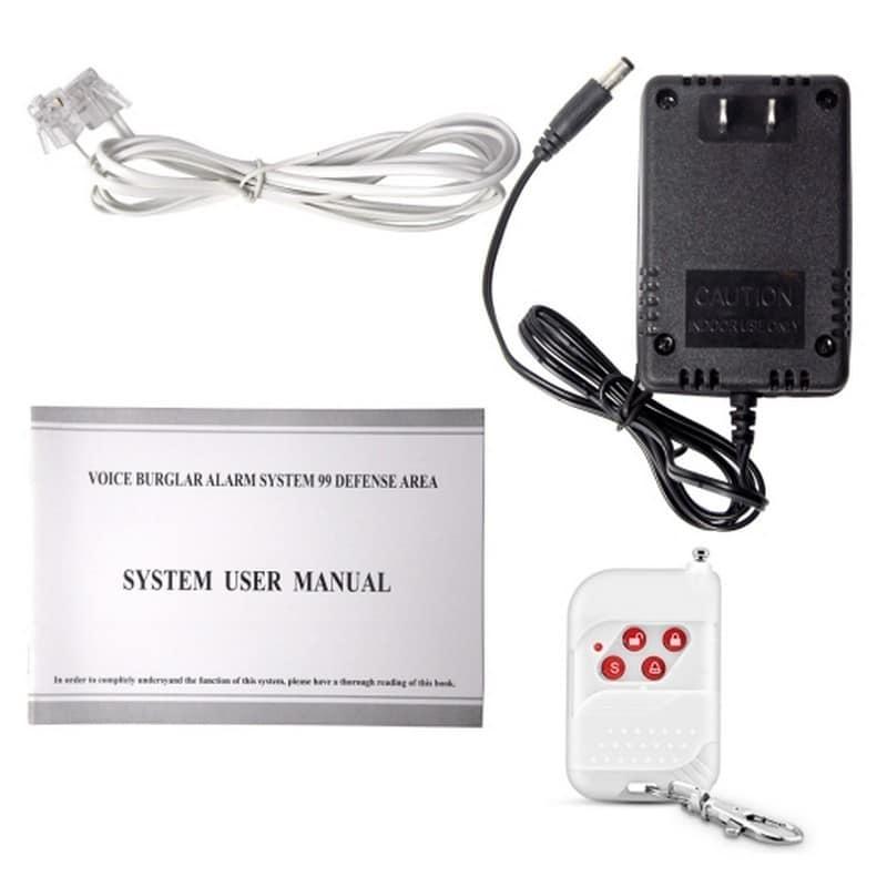 Беспроводная охранная система-сигнализация YA-601-PSTN-1 12 в 1 – 433MHz, 2 PIR датчика, 5 дверных датчиков, сирена, 3 пульта 208246