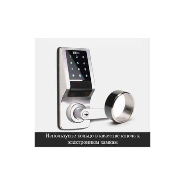 31712 - Умное кольцо JAKCOM R3F (черное): титан, IP68, NFC, быстрая разблокировка, защита данных, Push-сообщения, электронные визитки