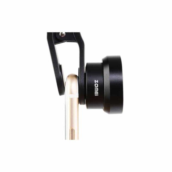 31731 - Универсальный 17мм 2.0х телефото объектив ZOMEI с металлической блендой для смартфона + клипса