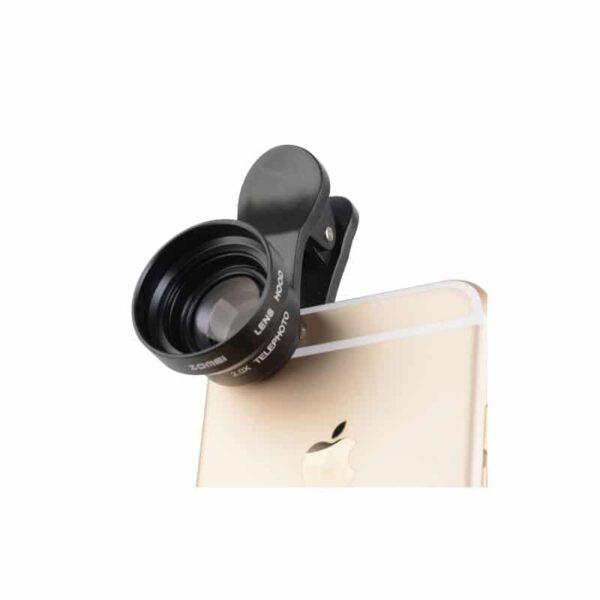 31732 - Универсальный 17мм 2.0х телефото объектив ZOMEI с металлической блендой для смартфона + клипса