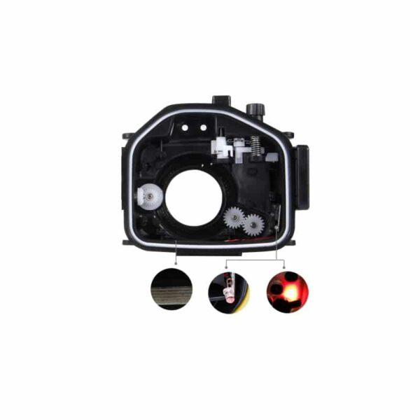 31857 - Водонепроницаемый корпус/ подводный чехол/ аквабокс PULUZ для камеры Canon G7 X (черный)
