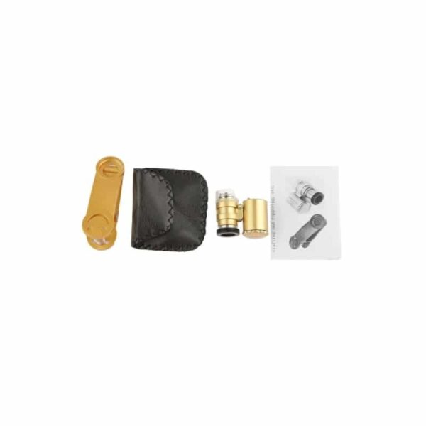 32027 - Мобильный 60х микроскоп для смартфона с клипсой + УФ-детектор валют