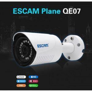 IP-камера ESCAM Plane QE07: 720р, IP66, ночное видение 15 м, датчик движения, ONVIF2.0, PoE