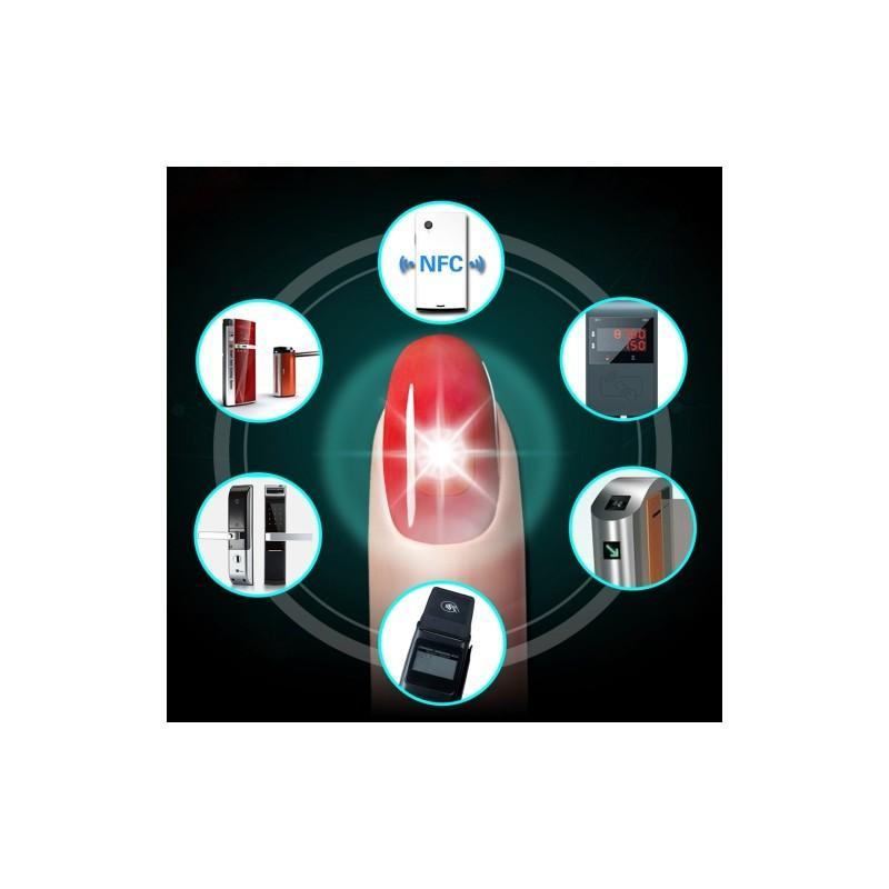 32163 - Умный маникюр/ умный ноготь с высокочастотным светодиодом JAKCOM N2L: светоиндикация при использовании ID-карт и функций NFC
