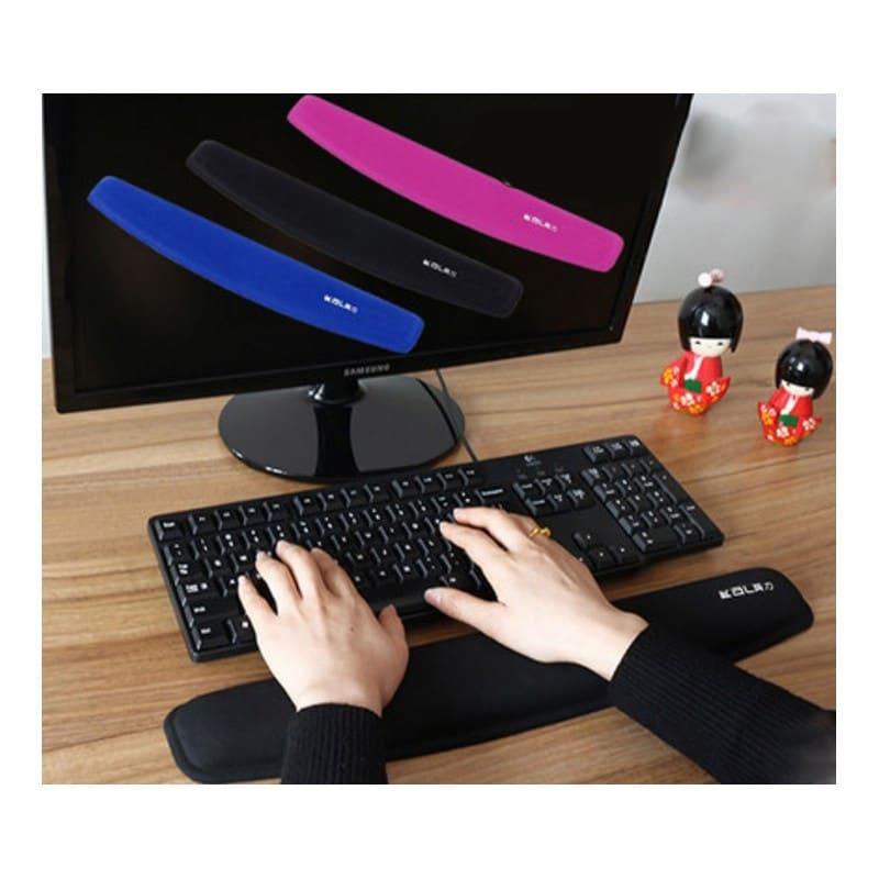 Комплект: Подставка под запястья из Memory Foam для клавиатуры + Эргономичный коврик для мышки U-LITA от туннельного синдрома - Черный