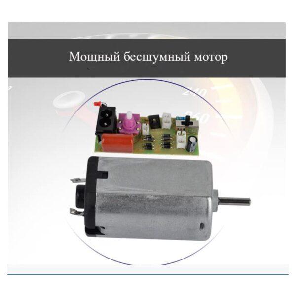 32501 - Мини-вентилятор на солнечной батарее с LED-лампой и фонариком: питание от солнечной панели и от сети, батарея 2000 мАч