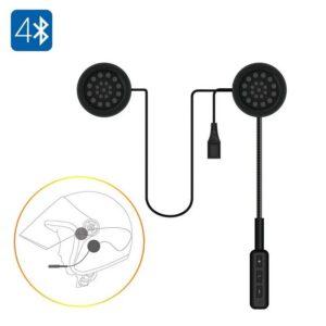 Мотоциклетная Bluetooth гарнитура – Bluetooth 4.0, встроенный микрофон, Hands Free, музыка, до 10 м, 150 мАч