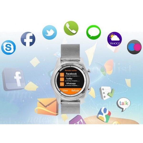32990 - Умные часы No.1 S9 - Bluetooth, фитнес датчики, 380 мАч, 1.3-дюймовый сенсорный экран