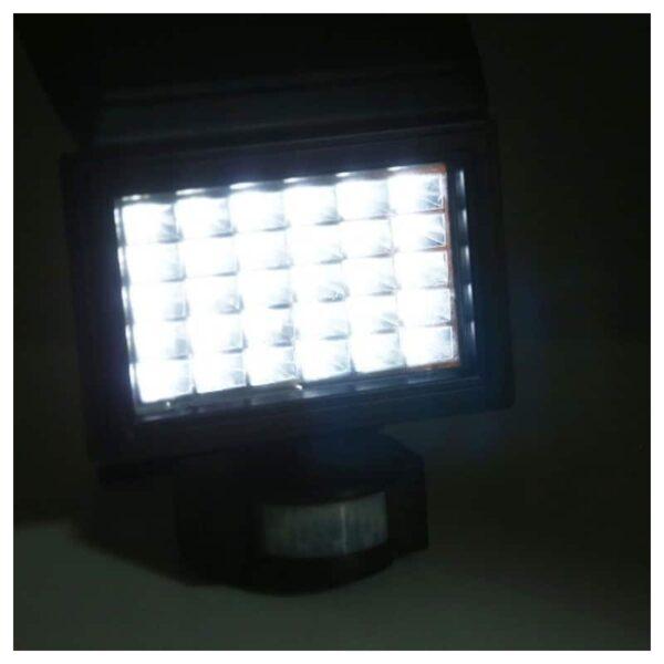 33010 - LED прожектор Solar 200LM - солнечная батарея, датчик движения, IP 65, 30 светодиодов