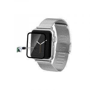 Ультратонкая стеклянная защитная пленка для Apple Watch 38 мм, черная