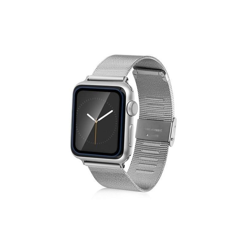 Ультратонкая стеклянная защитная пленка для Apple Watch 38 мм, черная 186199