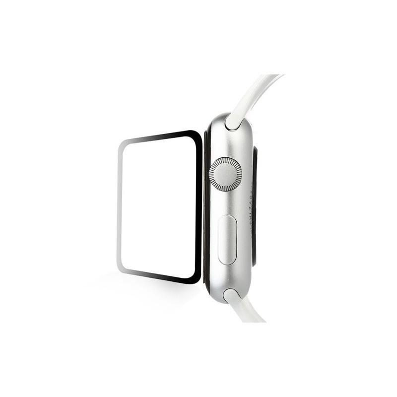 Ультратонкая стеклянная защитная пленка для Apple Watch 38 мм, черная 186200