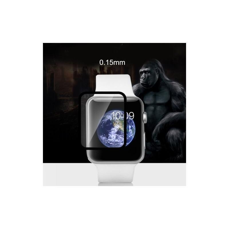 Ультратонкая стеклянная защитная пленка для Apple Watch 38 мм, черная 186205