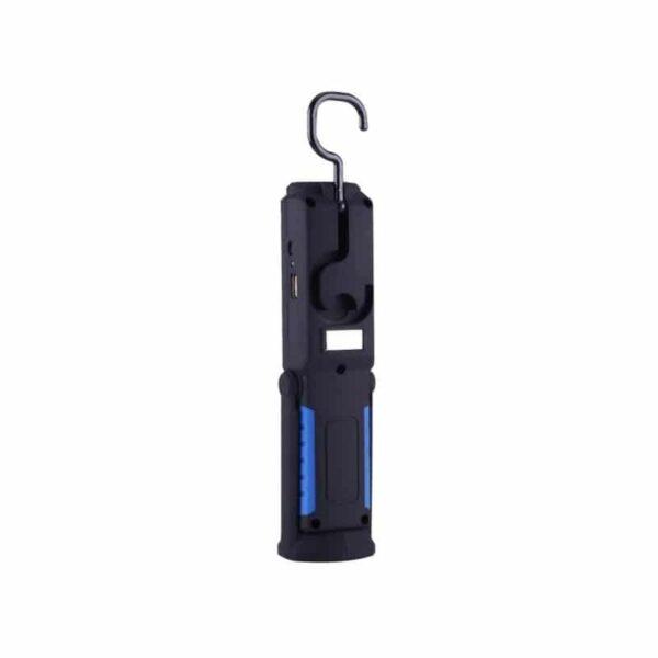 33368 - Водонепроницаемый фонарь-лампа PR5W-USB - 400 LM, IP43, USB зарядка, белый свет, магнитная основа, поворотное крепление, крючок