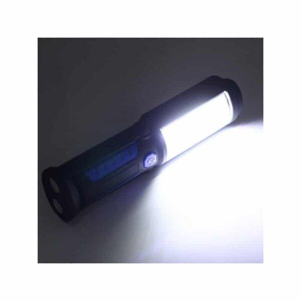33373 - Водонепроницаемый фонарь-лампа PR5W-USB - 400 LM, IP43, USB зарядка, белый свет, магнитная основа, поворотное крепление, крючок