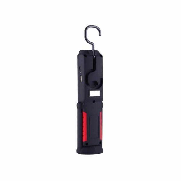 33377 - Водонепроницаемый фонарь-лампа PR5W-USB - 400 LM, IP43, USB зарядка, белый свет, магнитная основа, поворотное крепление, крючок