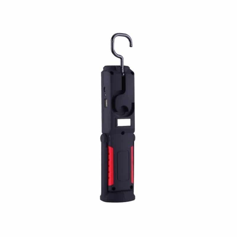 Водонепроницаемый фонарь-лампа PR5W-USB – 400 LM, IP43, USB зарядка, белый свет, магнитная основа, поворотное крепление, крючок 209716