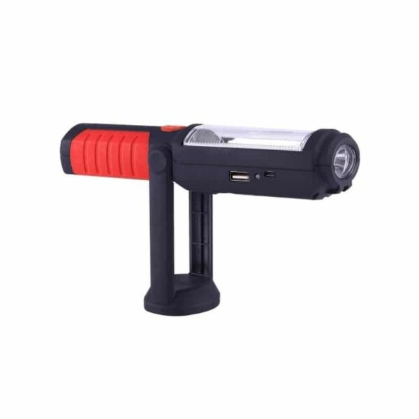 33379 - Водонепроницаемый фонарь-лампа PR5W-USB - 400 LM, IP43, USB зарядка, белый свет, магнитная основа, поворотное крепление, крючок
