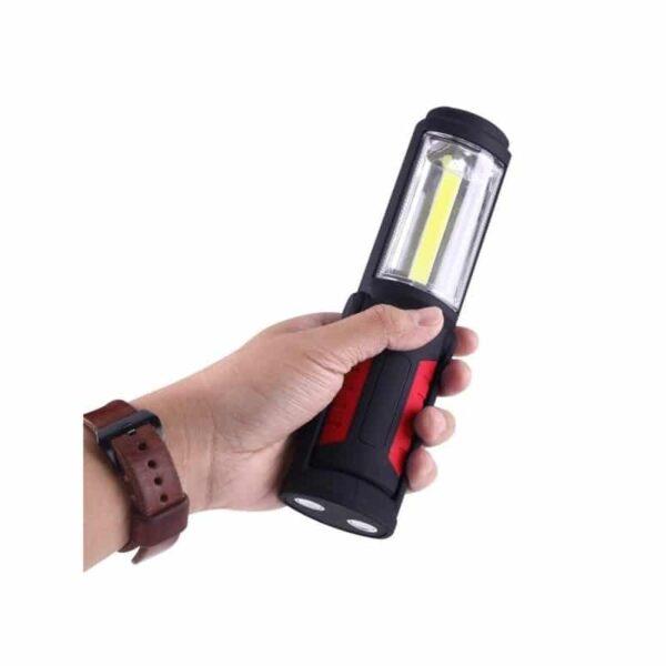 33380 - Водонепроницаемый фонарь-лампа PR5W-USB - 400 LM, IP43, USB зарядка, белый свет, магнитная основа, поворотное крепление, крючок