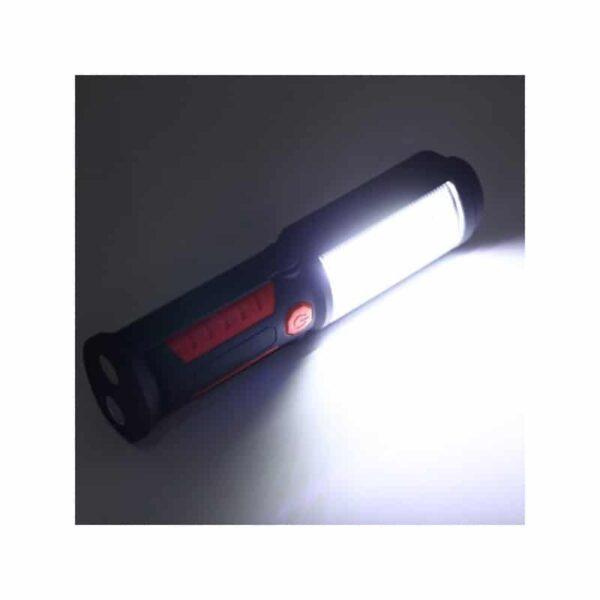 33382 - Водонепроницаемый фонарь-лампа PR5W-USB - 400 LM, IP43, USB зарядка, белый свет, магнитная основа, поворотное крепление, крючок