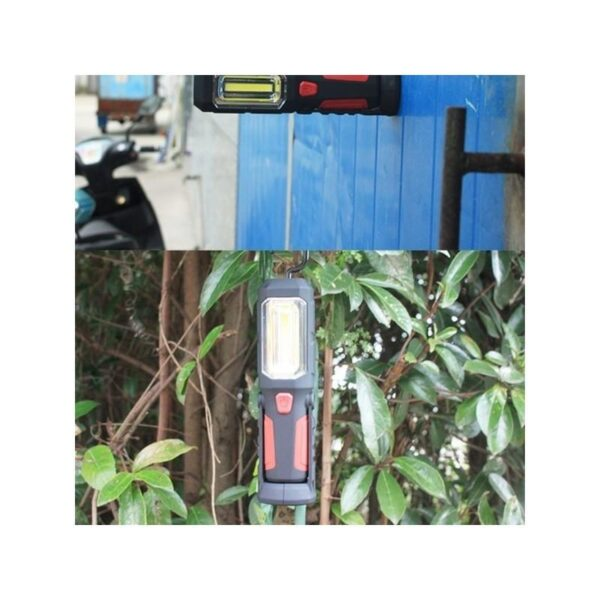 33386 - Водонепроницаемый фонарь-лампа PR5W-USB - 400 LM, IP43, USB зарядка, белый свет, магнитная основа, поворотное крепление, крючок