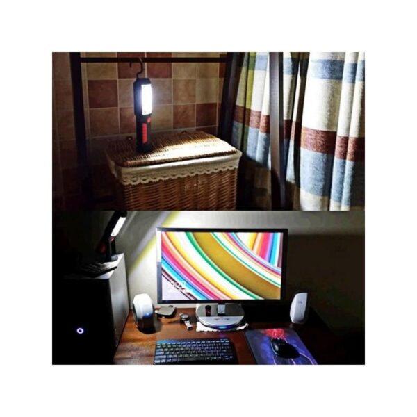 33387 - Водонепроницаемый фонарь-лампа PR5W-USB - 400 LM, IP43, USB зарядка, белый свет, магнитная основа, поворотное крепление, крючок