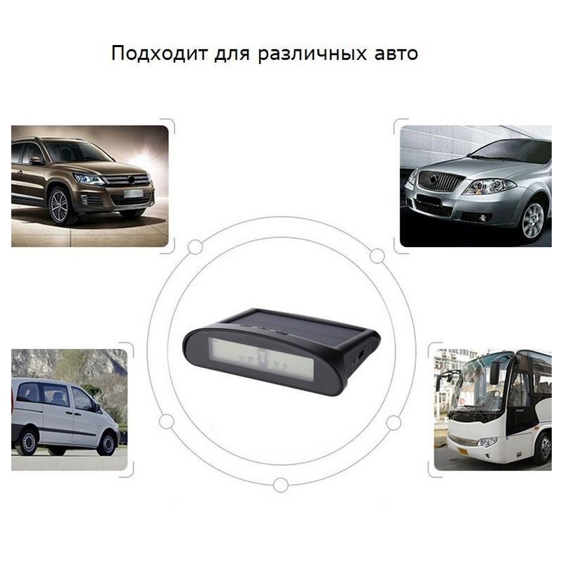 Система контроля давления в шинах – солнечная батарея, USB-зарядка, 4 датчика, IP67, ЖК-дисплей, оповещения 210012